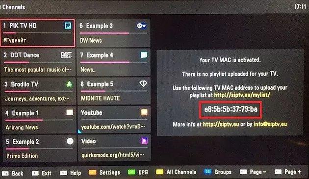 Smart IPTV MAC Address