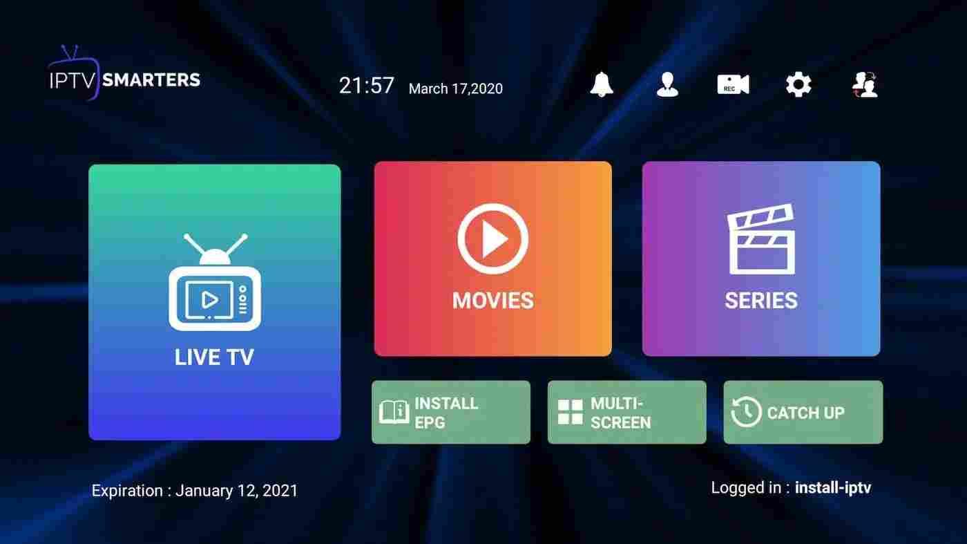 Smarters Iptv Pro Application Running